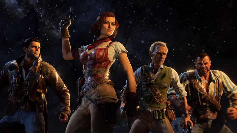 picture showing four characters from zombies mode