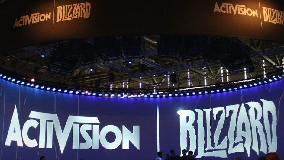 Picture of Activision Blizzard banners at a convention