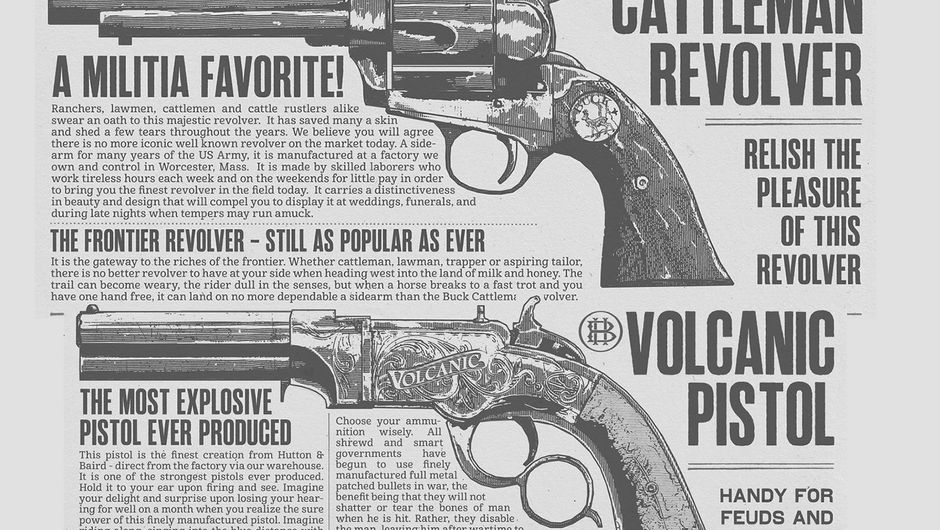 Description of two iconic pistols from Red Dead Redemption 2