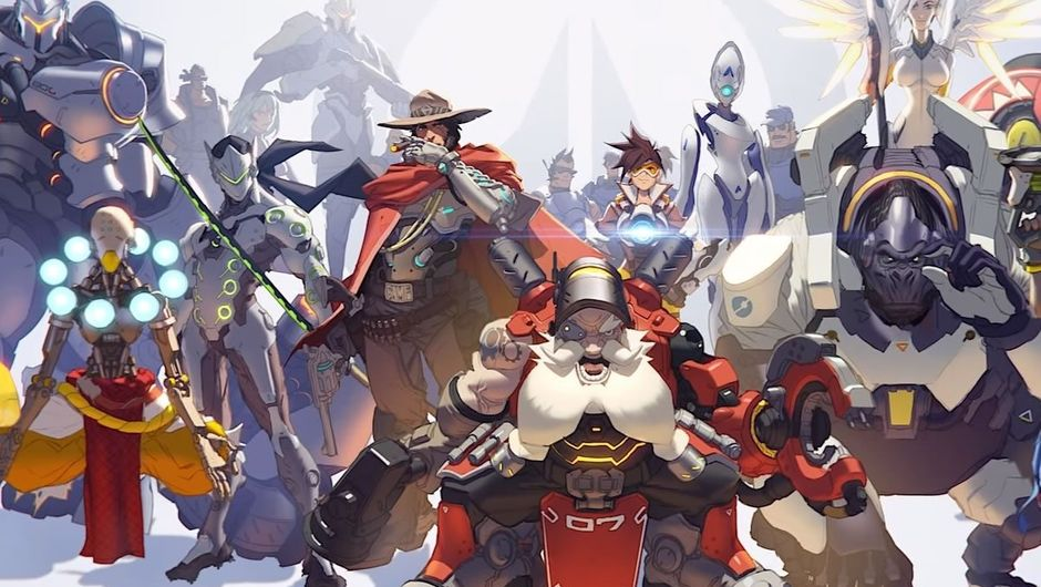 Concept art for Overwatch, showing one of the new heroes