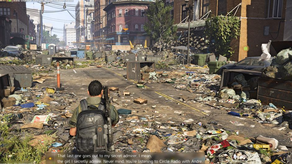 Picture of a littered street in The Division 2