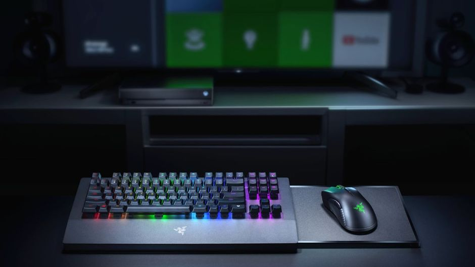 Picture of the Razer Turret mouse and keyboard combo