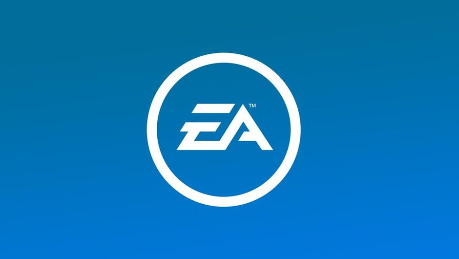 Picture showing EA logo on blue background