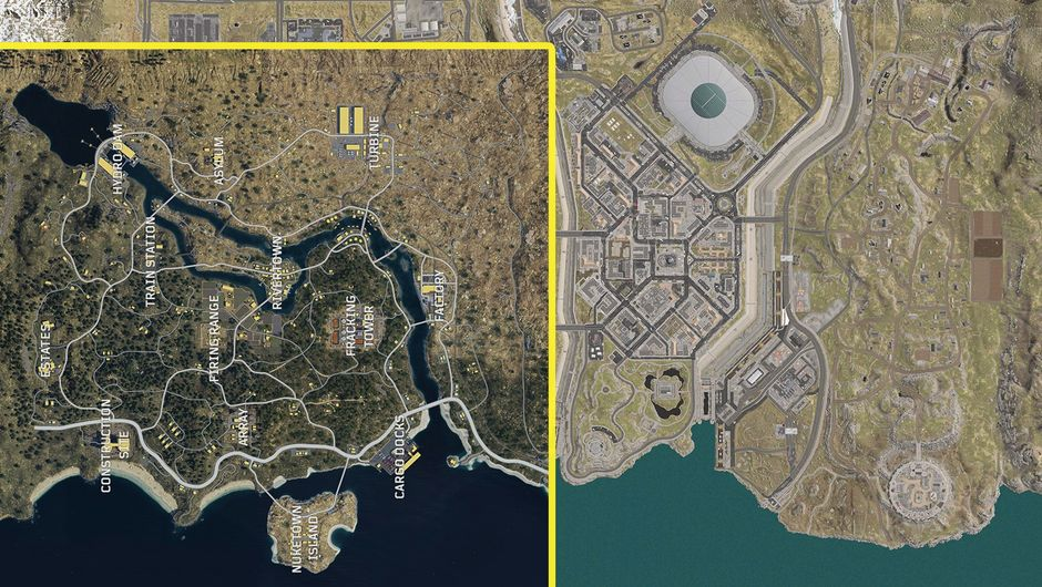 Here S How Blackout Map Size Compares To That Of Call Of Duty Warzone