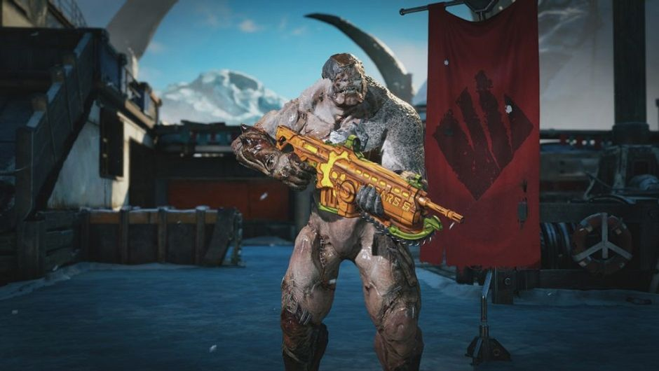 screenshot showing Gears 5 Halloween event skin