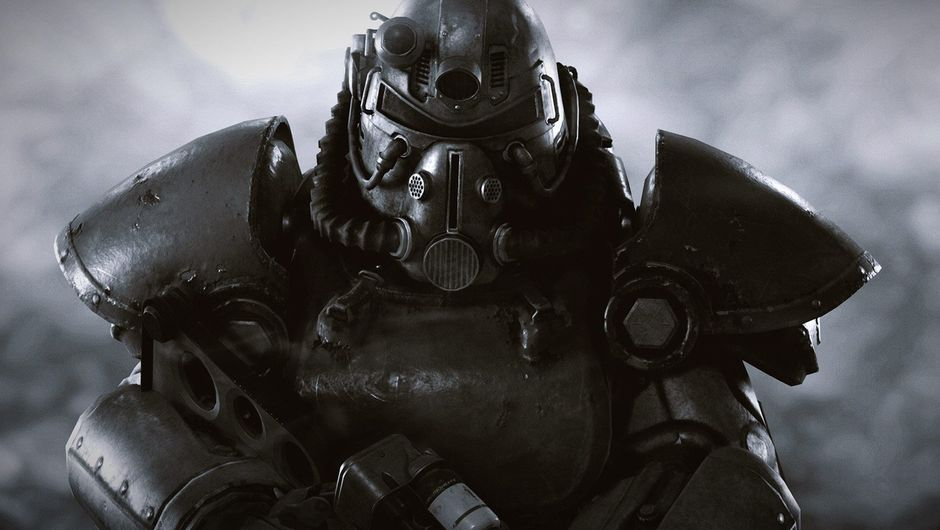 Picture of someone in a T-51b power armour in Fallout 76