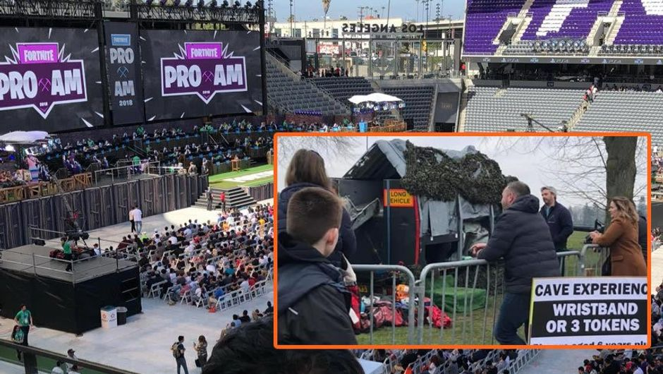 Photos comparing Fortnite ProAm and Fortnite Live Norwich events