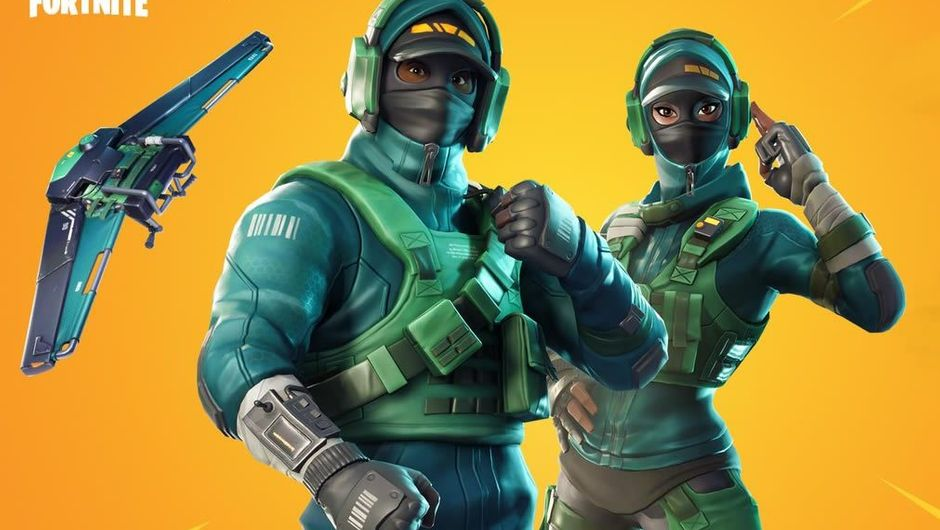 Fortnite's skins showing fully equipped police officers