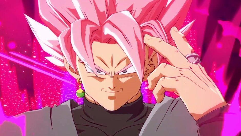 Screenshot of Super Saiyan Rose in Dragon Ball FighterZ.