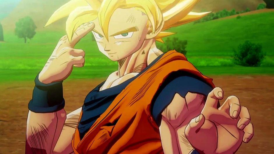 Super Saiyan Goku in Dragon Ball Z: Kakarot.