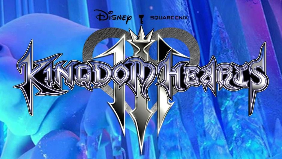 Kingdom Hearts 3 logo over Frozen background