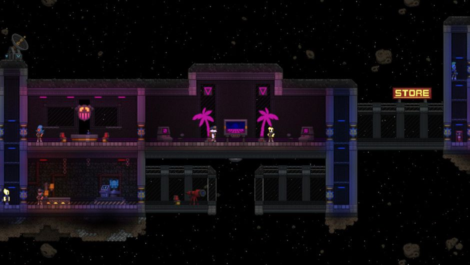 Screenshot from Chucklefish's Starbound