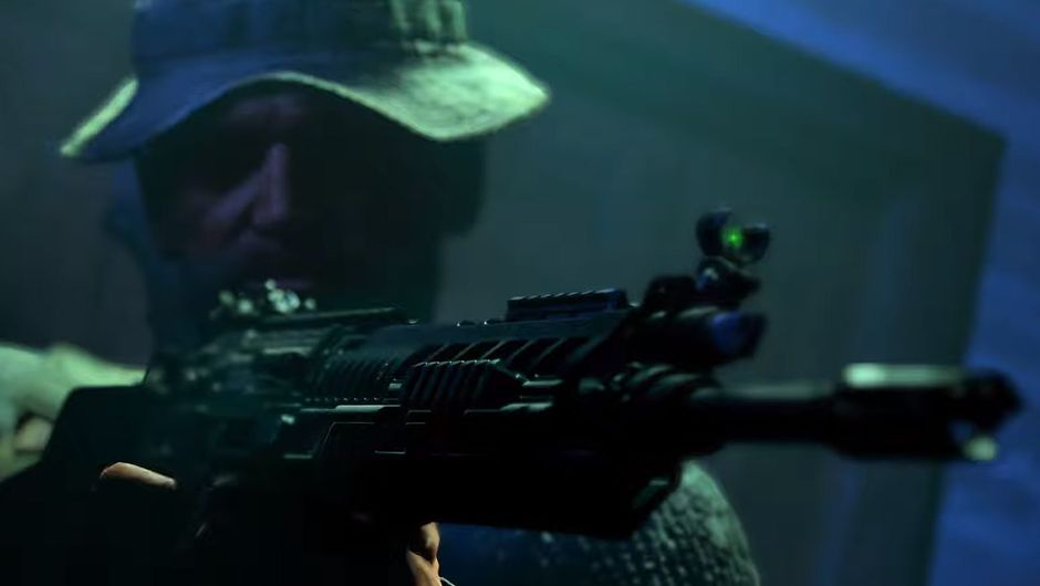 black ops 4 screenshot showing captain price with a gun