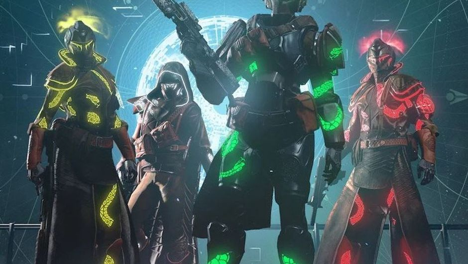 Picture of some colourful idiots in Destiny 2
