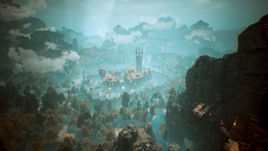 Gothic Remake screenshot showing a city