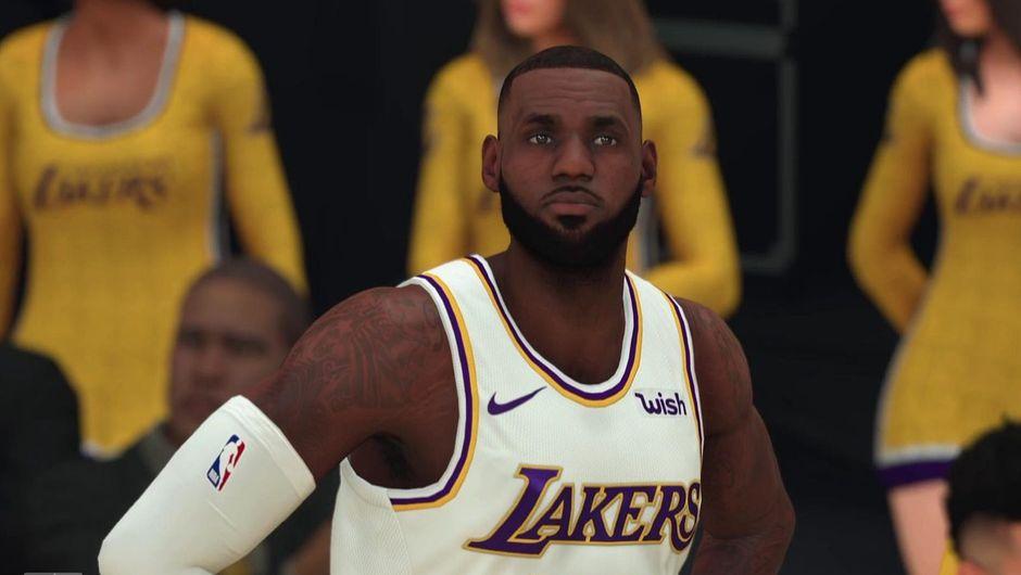 LeBron James in NBA 2K20.