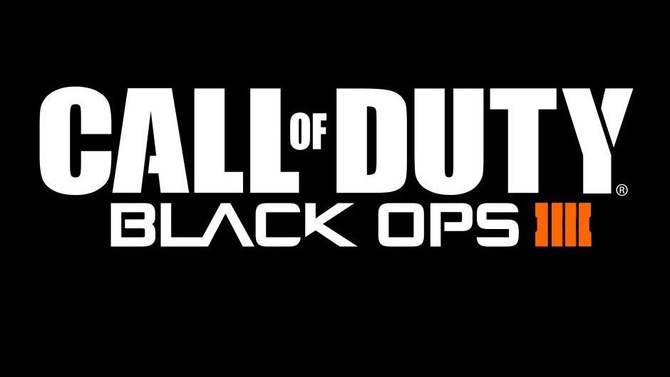 Call of Duty Black Ops 4 logo, white letters on a black background, with the exception of ''IIII'' which is orange.