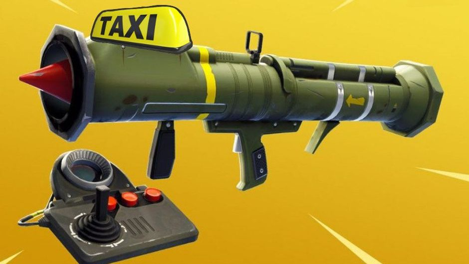 Spoof of the Guided Missile from Fortnite converted to a taxi.