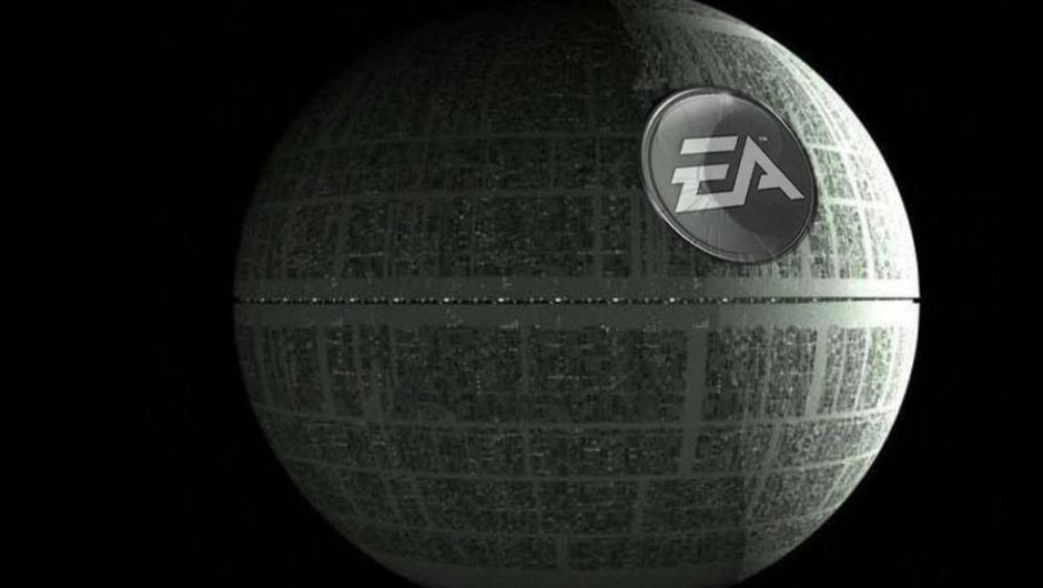 Death Star from Star Wars floating through space