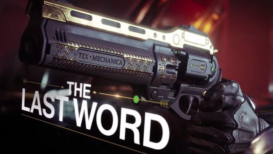 Picture of The Last Word handcannon in Destiny 2