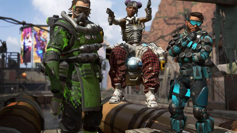 Picture of Caustic, Lifeline and Mirage from Apex Legends