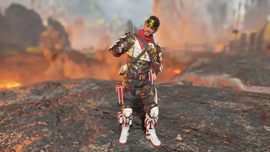 Apex Legends character Mirage in fancy clothes