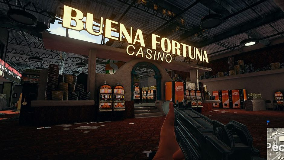 PUBG screenshot of Buena Fortuna Casino neon sign