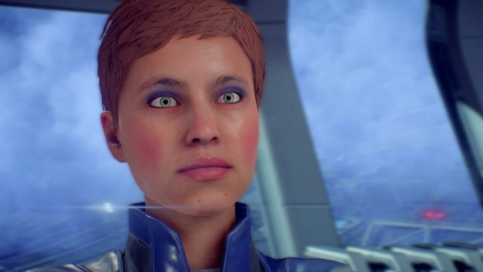 Addison from Mass Effect Andromeda says her face is tired
