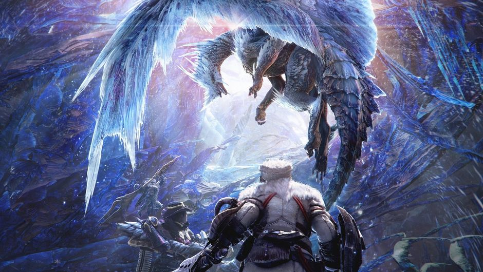 Monster Hunter: World Iceborne showing a beast attacking a warrior