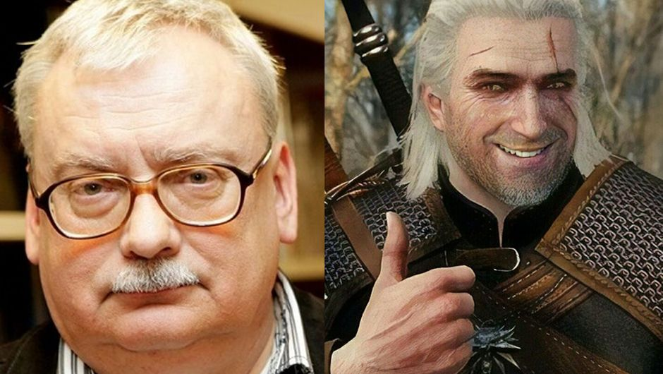 artwok showing mr. sapowski and geralt from the witcher 3