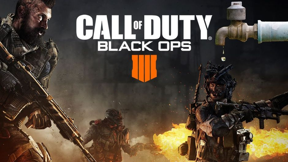 Altered Call of Duty: Black Ops 4 picture with a photoshopped fauced in it