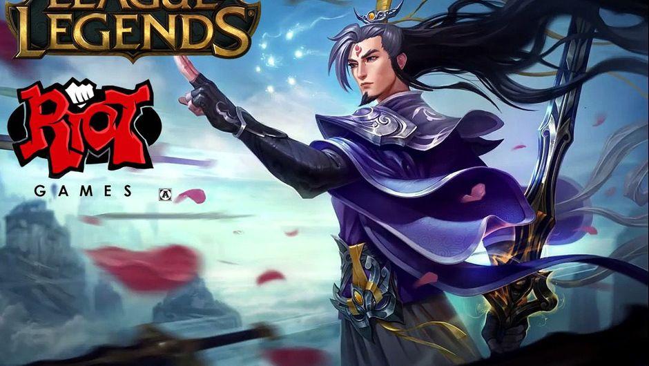 Splash art for Eternal Sword Master Yi skin in League of Legends.