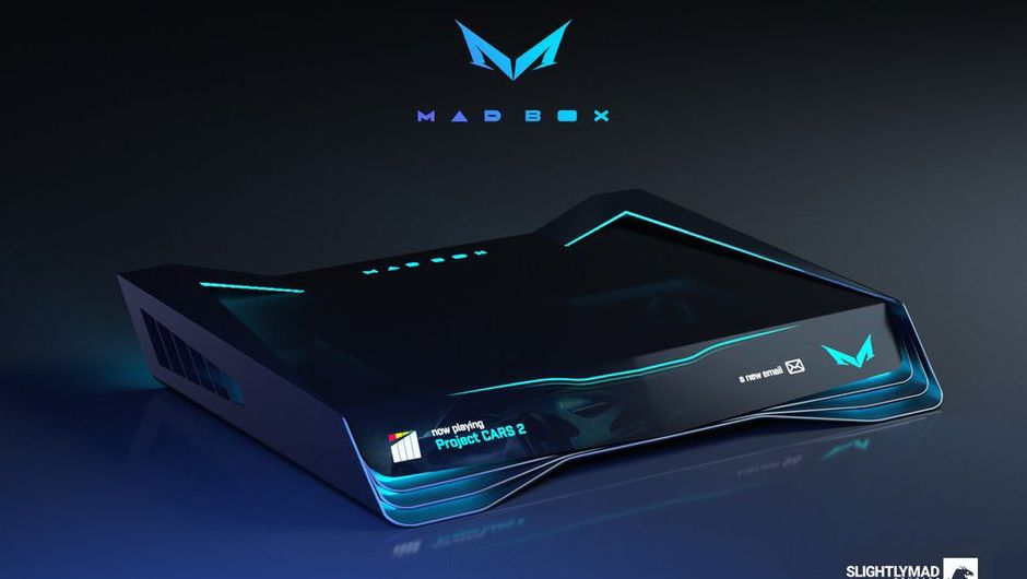 picture showing concept design on mad box console