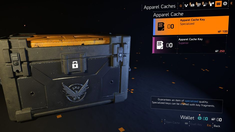 Picture of a loot box in The Division 2