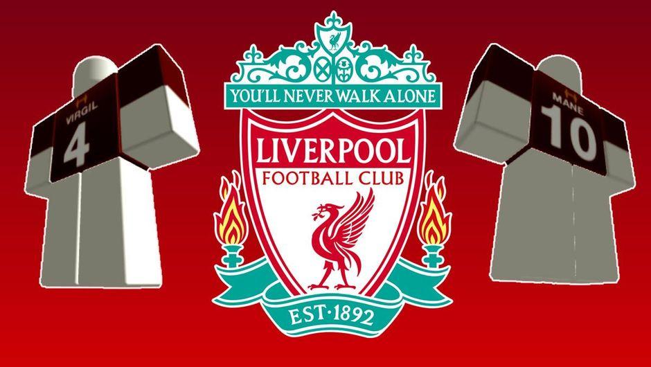 Roblox and Liverpool FC partnership, jerseys