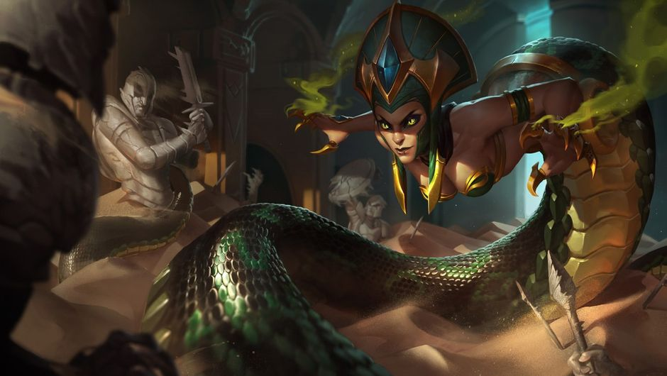 Splash art for Cassiopeia in League of Legends