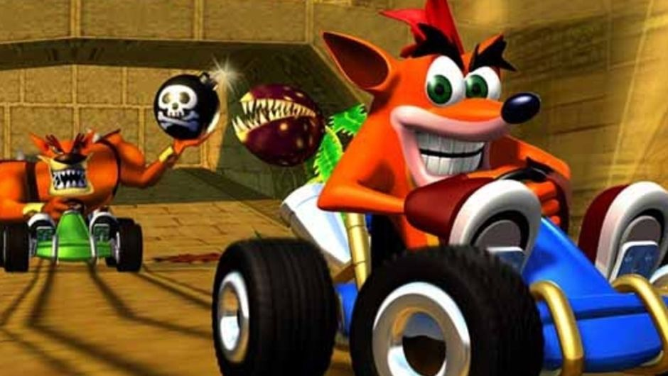Picture of Crash racing in Crash Team Racing