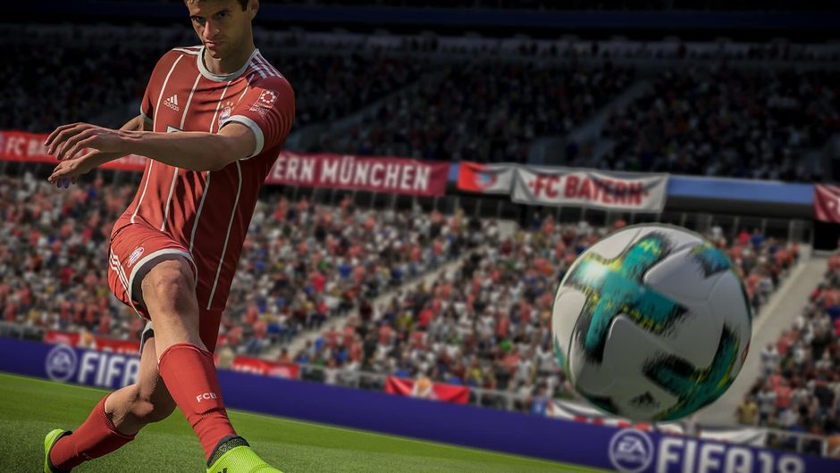 German player Thomas Muller in EA's football game FIFA 18