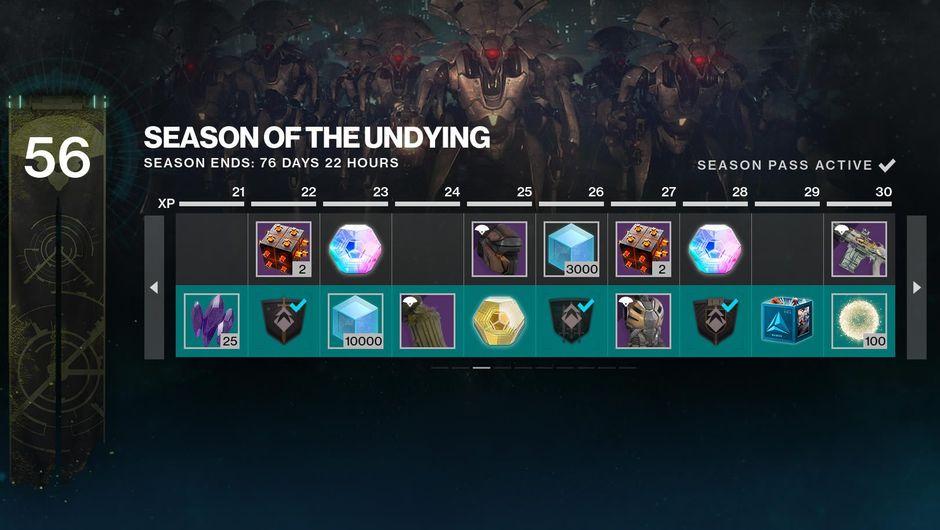 Destiny 2's Season Pass rewards
