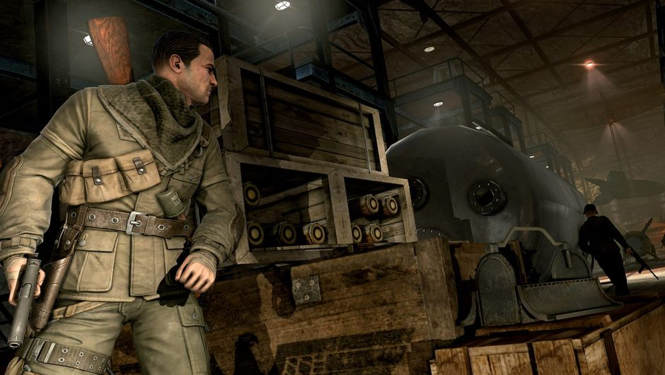 Picture of the Sniper Elite V2 protagonist sneaking around