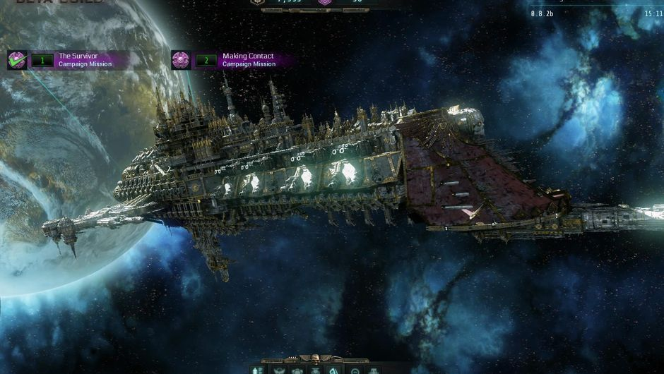 Space ship from Warhammer 40,000: Martyr - Inquisitor