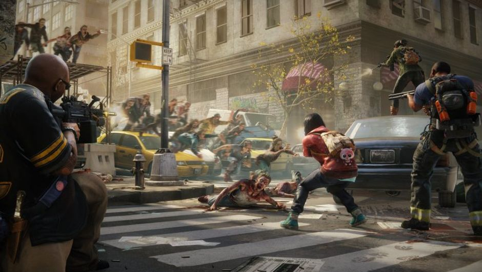 picture showing a group of people fighting against zombies