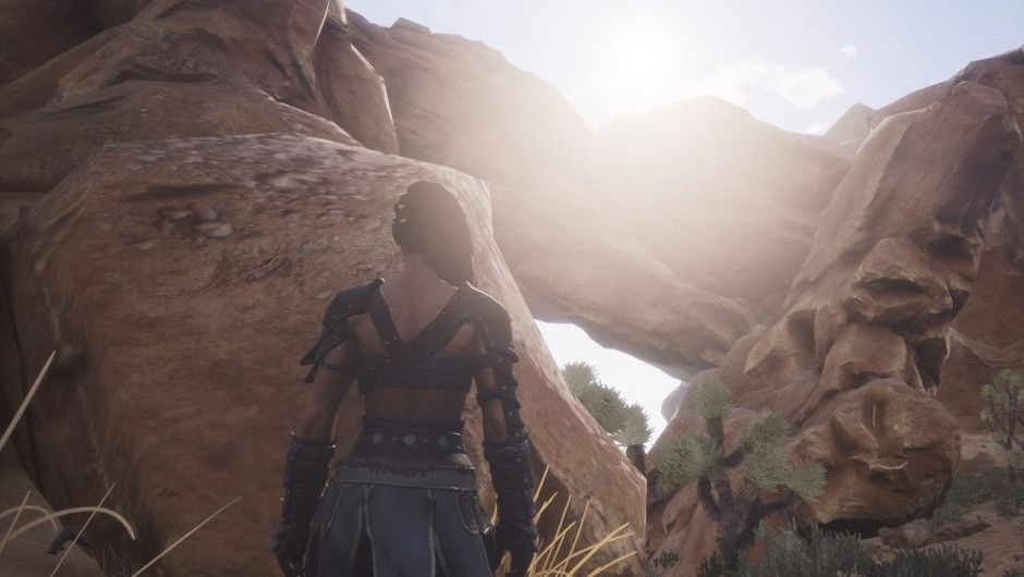 Player is looking at the sun in Conan Exiles because the game can't make their character blind