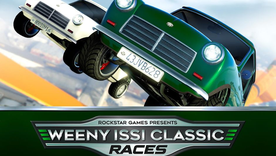 Poster for Weeny Issi Classic Races event in GTA Online