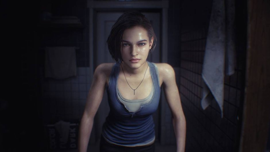 Resident Evil 3 Remake - Jill's reflection in a mirror