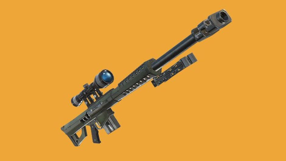 Picture of the upcoming new weapon the heavy sniper rifle in Fortnite