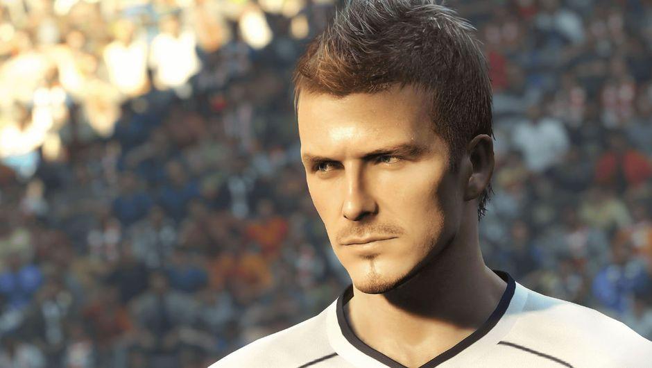 Screenshot of David Beckham from Pro Evolution Soccer 2019