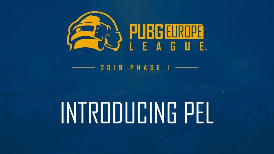 PUBG Europe League introduction poster