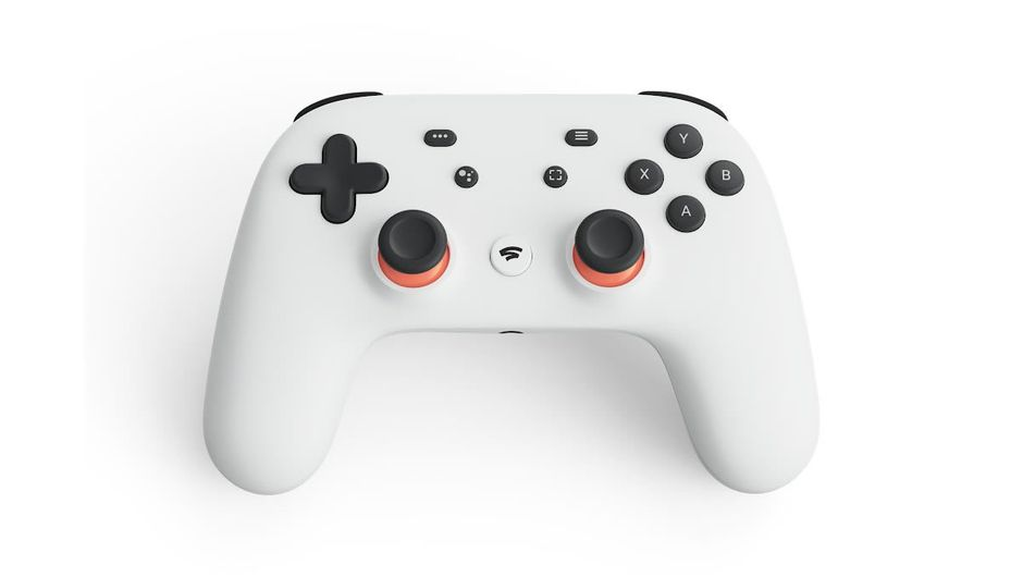 White controller for Google Stadia