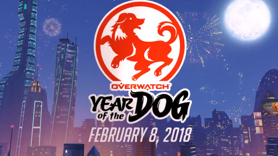 Overwatch's logo for the Year of the Dog event